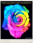 It takes many petals